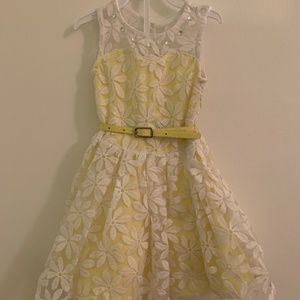 Yellow and White Toddler Party Dress
